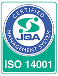ISO14001 : 2015 JQA (2007年認証取得)