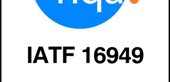 常熟工場 (中国) にてIATF16949の認証取得しました。