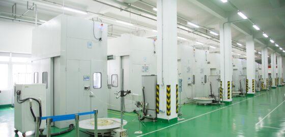 常熟工場 (中国) の量産プレス機が30台体制になりました。